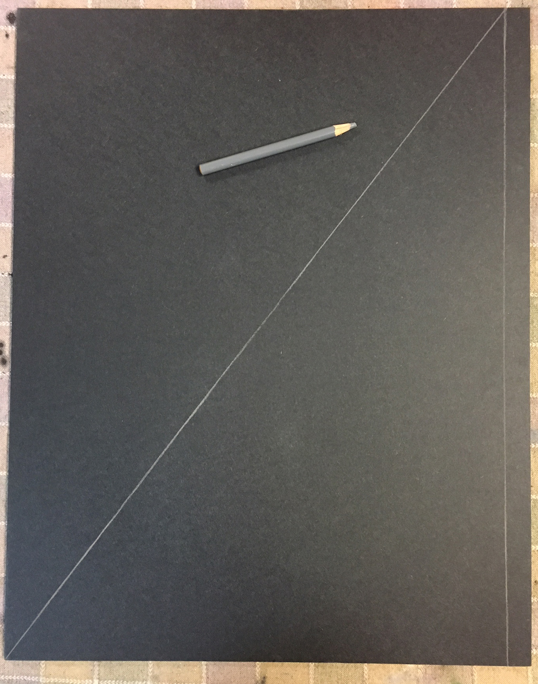 Chris Ivers: The vertical line showing the part of the painting that will need to be added to the original photo view.