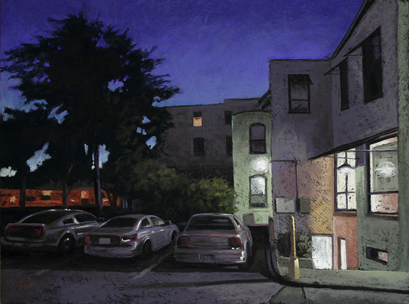 """Chris Ivers, """"All in a Row,"""" pastel on textured Gator Board, 18 x 24 in. Available."""