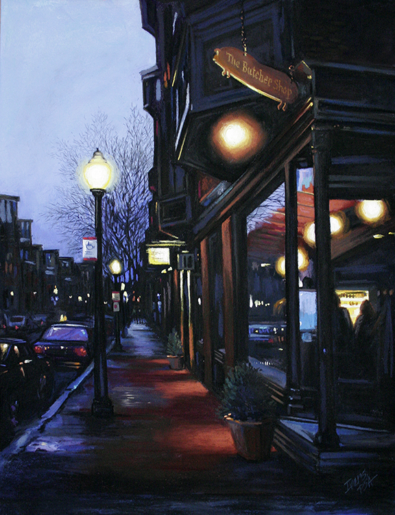"""Chris Ivers, """"Chops,"""" pastel on Wallis Museum paper, 23 x 17 in. Available"""