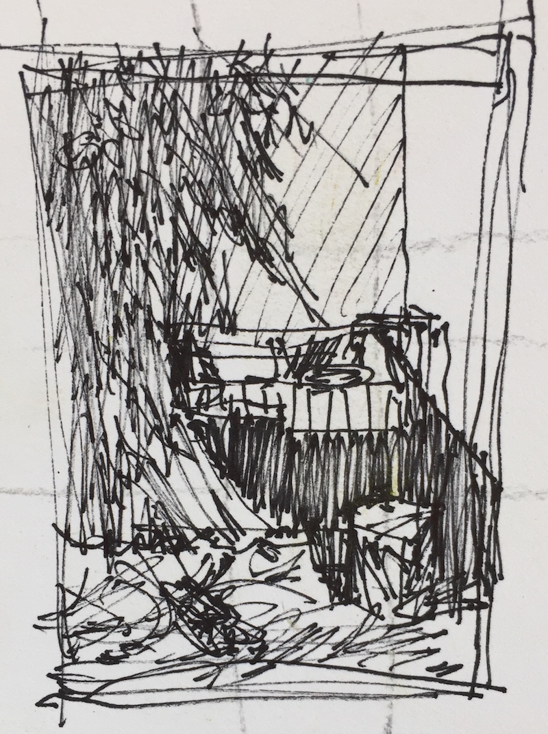 The Art of Cropping: The small quick pen and ink thumbnail