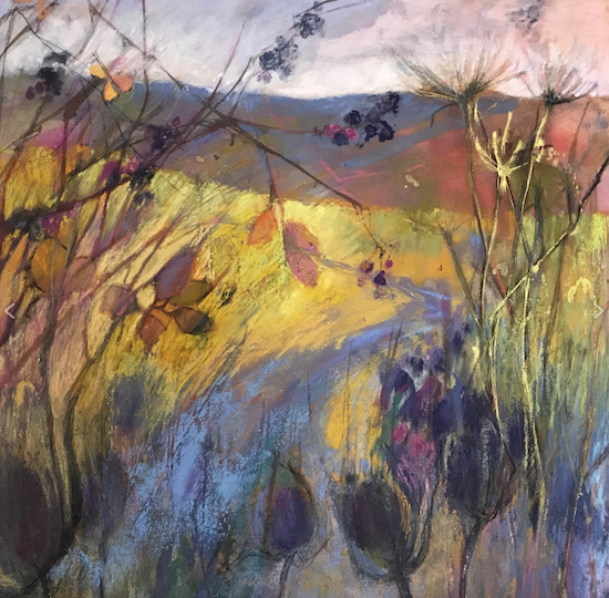 "February's awe-inspiring pastels: Judy Tate, ""Autumn,"" pastel on Ampersand, 15 3/4 x 15 3/4 in (40 x 40 cm)"