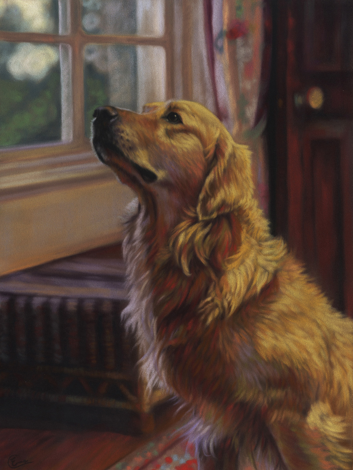 "Emma Colbert, ""Willow,"" 2015, Unison pastels on Hahnemühle velour paper, 18 x 14 in. Commissioned Portrait."