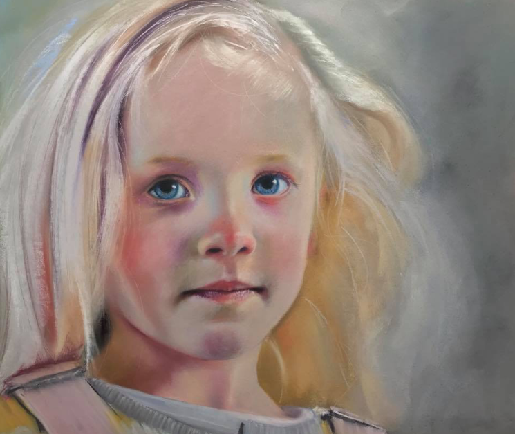 "March's startling pastels: Neil Condron, ""Mia,"" pastel on Pastelmat, 8 x 11 3/4 in (20 x 30 cm)"