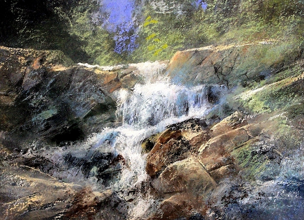 "March's startling pastels: Stan Bloomfield, ""Top of the Canyon,"" pastel, 17 x 22 in"