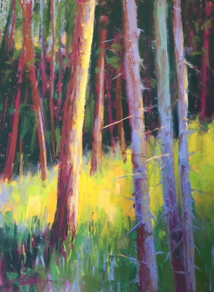 Painting Summer Greens In Soft Pastels How To Pastel