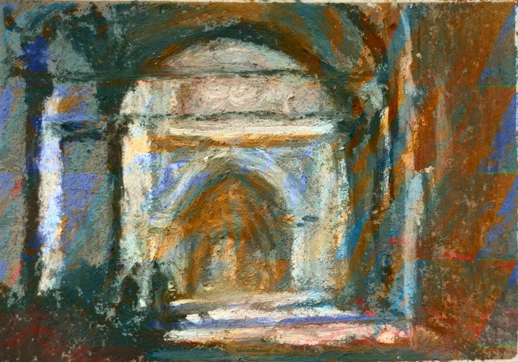 Copie d'après Edward Seago, The Colonnade,
