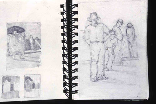 Sally Strand, sketches for