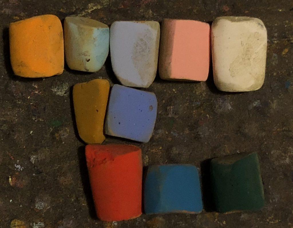 Couleurs pastel à l'unisson utilisées