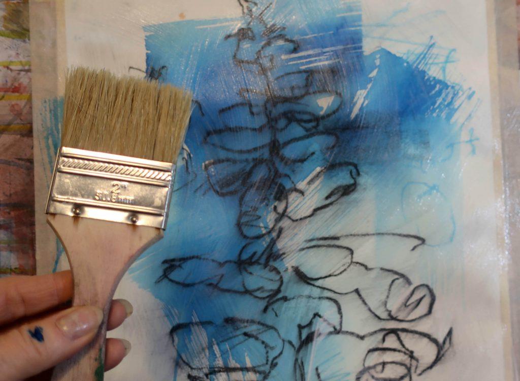 4. Debora Stewart - appliquez le gesso clair Liquitex sur le dessin