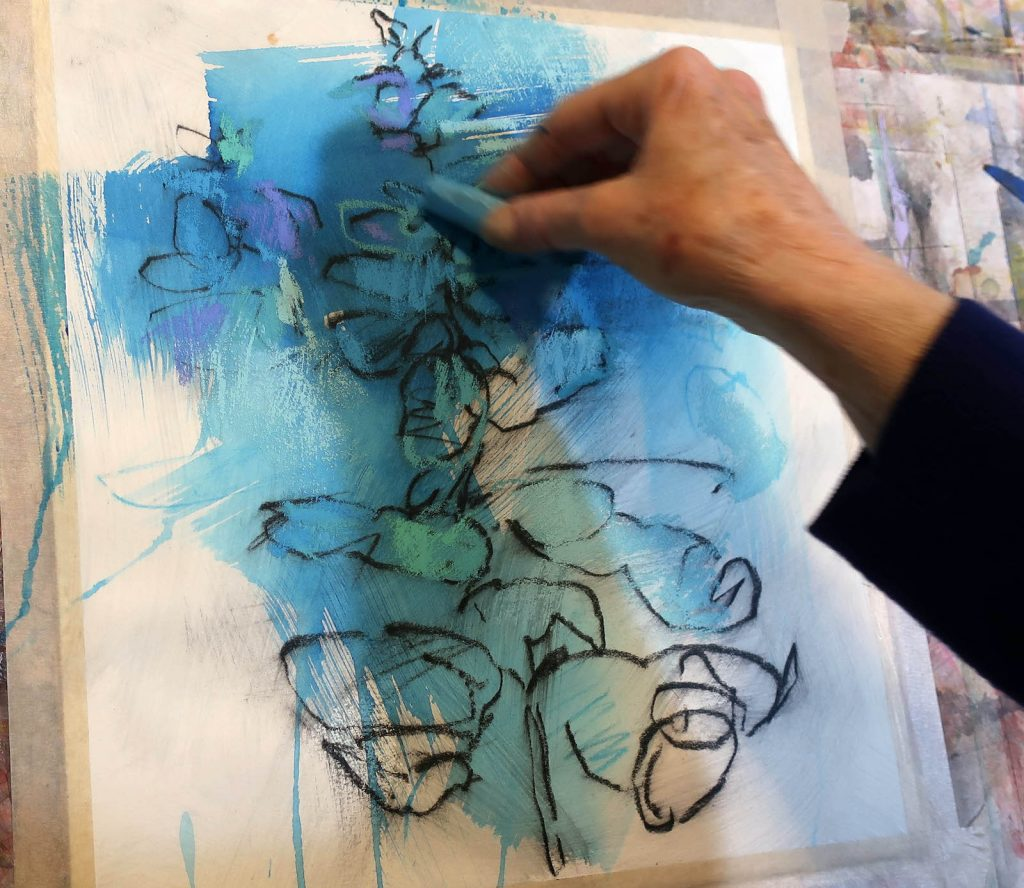 5. Debora Stewart - processus d'application du pastel