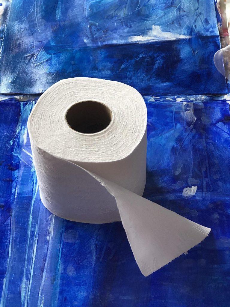 La photo de référence d'un rouleau de papier toilette à partir duquel nous peignions tous.