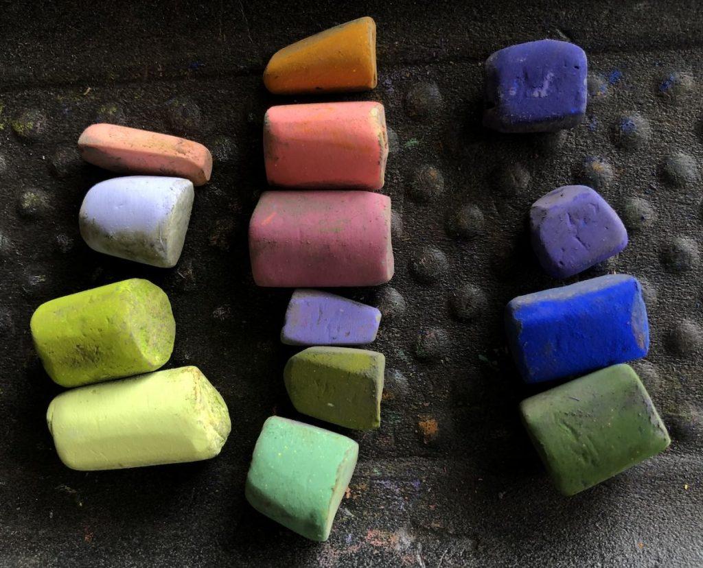 Pastels unison couleur utilisés dans la pièce